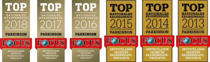 Top Nationales Krankenhaus Parkinson 2012-2018