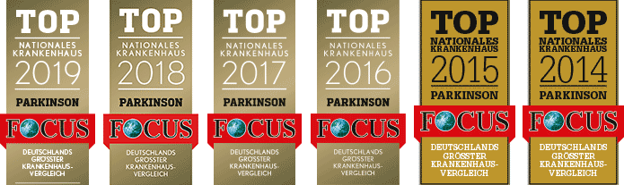 Top Nationales Krankenhaus Parkinson 2012-2019