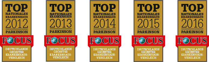 Top Nationales Krankenhaus Parkinson 2012-2016