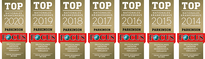 Top Nationales Krankenhaus Parkinson 2012-2020