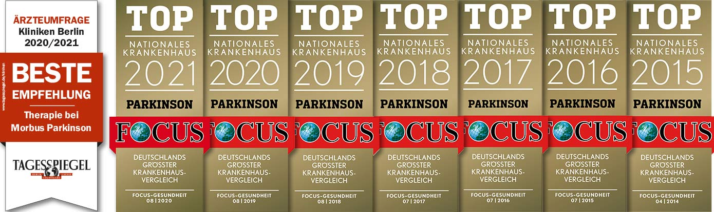 Top Nationales Krankenhaus Parkinson 2012-2021
